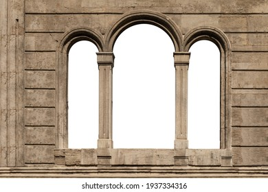 On the streets in Istanbul, public places. Elements of architectural decorations of buildings, doorways and arches, plaster moldings, plaster patterns.