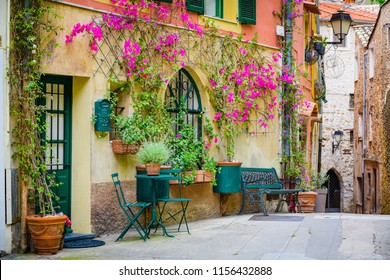 On the streets of a medieval village 