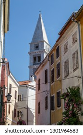 On the streets in the old part of Vrsar town in Istia, Croatia