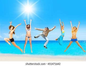 On a Sunny Day On a Beach