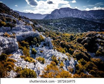 On the Supramonte mountain during a trekking in Sardinia