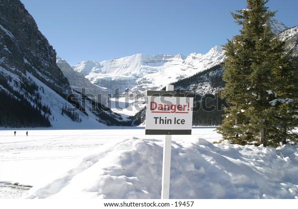 On Thin Ice - Lake Louise