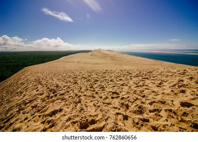 On top of Dune of Pilat, sand dune in Arcachon (France)