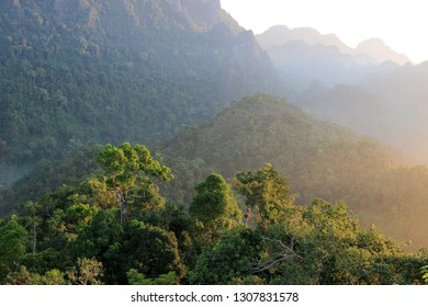 On the top on hill close to Vang Vieng, Laos, Asia