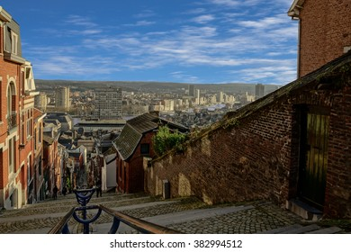 On top of montagne de bueren in Liege belgium.