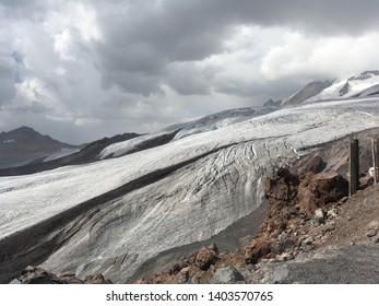 On top of mount Elbrus
