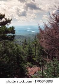 On top of Mount Haystack in Wilmington Vermont