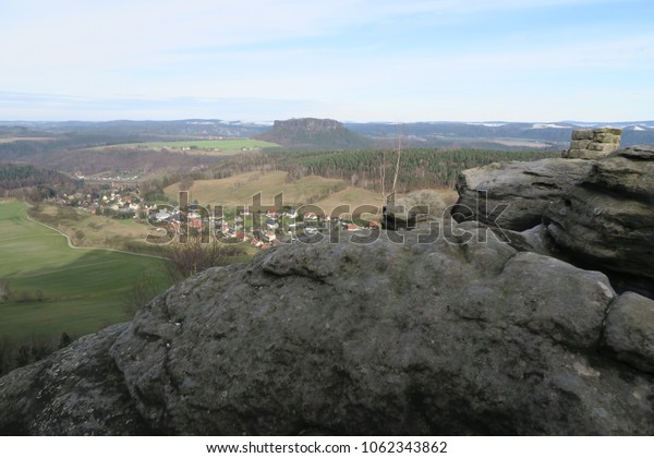 on top on the mountain, saxon switzerland