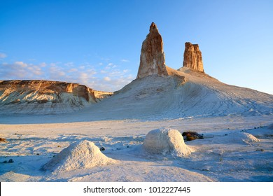 On the Ustyurt Plateau. Uplands of the Ustyurt plateau. Desert and plateau Ustyurt or Ustyurt plateau is located in the west of Central Asia, particulor in Kazakhstan, Turkmenistan and Uzbekistan.