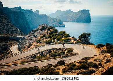 on the vacation through the roads of mallorca (majorca) with the bike