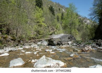 On the valley of the river Tișița, Vrancea-Romania