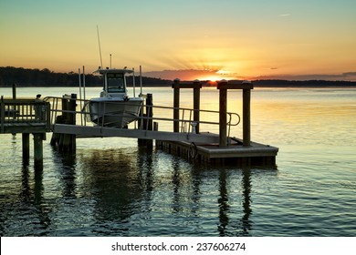 """""""On the Waterfront"""" A December sunset on the Colleton River tidal estuary near Hilton Head Island in Beaufort County, SC."""