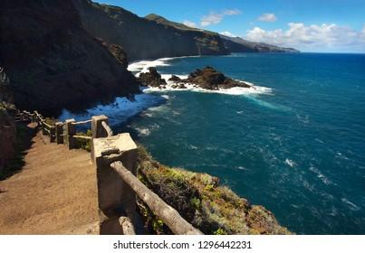 On the way to the Atlantic shore, Island of La Palma, Canary Islands, Spain