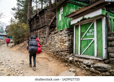 on the way to Everest Base Camp from Namche Bazaar