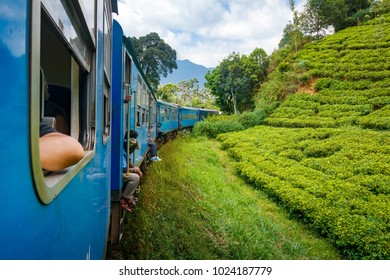 On the way from Kandy to Ella among tea plantations and mountains, Sri Lanka
