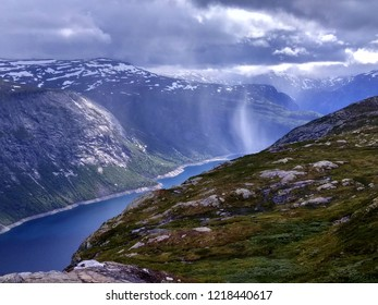 On the way to Trolltunga, Hordaland county, Norway
