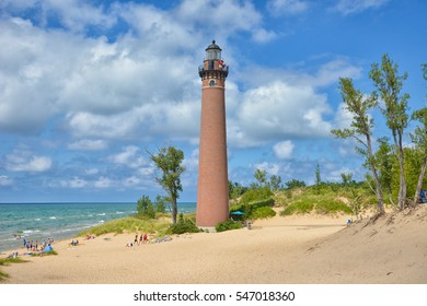 On the western coast of Michigan stands the Little Sable Point Lighthouse which has been a beacon for shipping for many years