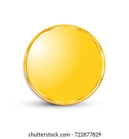 On white background isolated object abstract coin