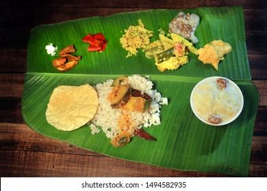 Onam banquet or onam sadhya a traditional kerala food