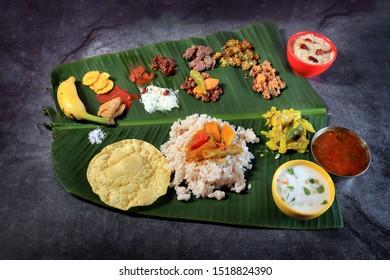 Onam banquet or onam sadhya ,Vishu sadhya- traditional kerala food