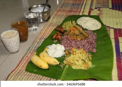 Onam Sadhya. Kerala traditional food