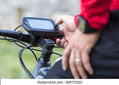 On-board display on modern Ebike, E-Mountainbike