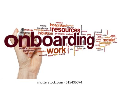 Onboarding word cloud