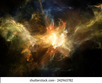 Once Upon a Space series. Abstract design made of fractal clouds on the subject of Universe, cosmos, astronomy, science and education