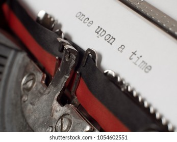 Once upon a Time text on old typewriter