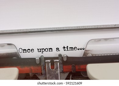 Once upon a time word typed on a Vintage Typewriter.