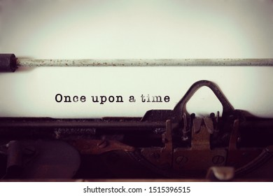 Once upon a time written on typewriter