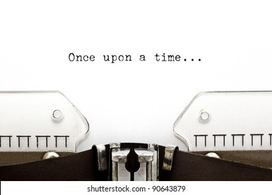 Once upon a time... written on an old typewriter.