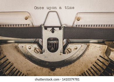 once upon a type on a vintage typewriter