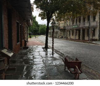 The once-turbulent site of John Brown's abolitionist uprising in the 19th century gives quite a different appearance on a rainy autumn day in West Virginia.