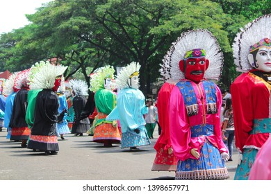 Ondel - ondel culture and iconic history of the city of Jakarta. Indonesia