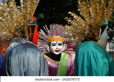 Ondel - ondel (giant puppet) culture and the iconic history of the city of Jakarta. Indonesia