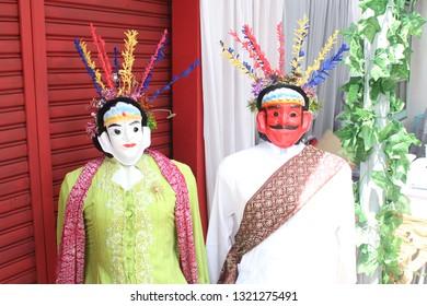 Ondel ondel, giant puppet from Jakarta Indonesia