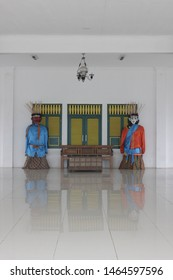Ondel - ondel ;  is a large puppet figure featured in Betawi folk performance of Jakarta, Indonesia