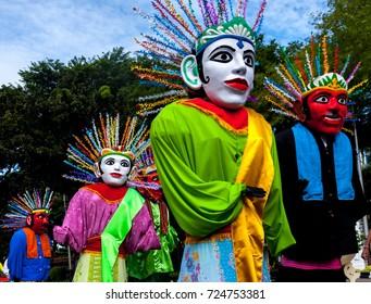 Ondel-ondel Betawi, giant puppet icon of Jakarta, Indonesia