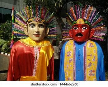 Ondel-ondel the giant puppet from Jakarta Indonesia