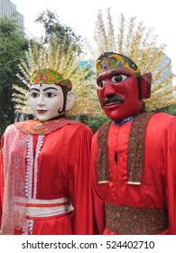 Ondel-ondel Jakarta. A folk art of Betawi culture.