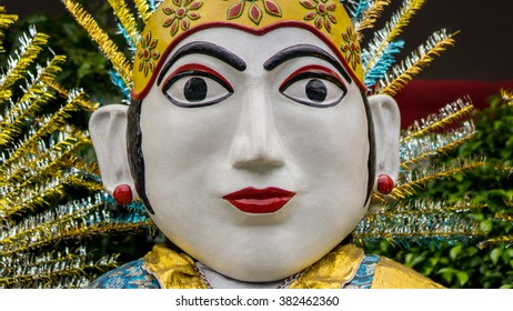 Ondel-Ondel. Large Puppets from Betawi, Jakarta, Indonesia.