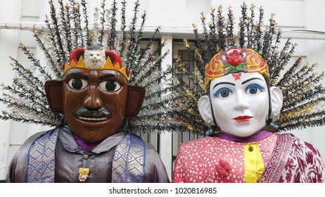 Ondel-ondel as large puppets traditionally from Betawi, Indonesia