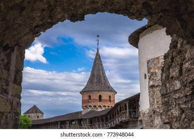 One of the 12 towers of castle in Kamianets Podilskyi, Ukraine