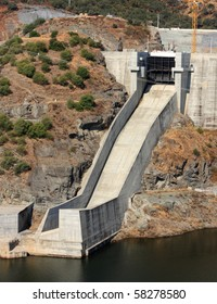 One of Alqueva dam chute spillway, in Portugal. Image not sharpened, may look soft.
