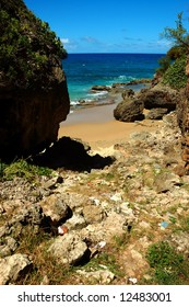 One of the amazing views at Guajataca Beach in the town of Quebradillas, Puerto Rico.