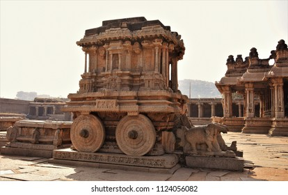 One among the 3 famous Stone Chariots in India - Vijay Vitthala Temple, Hampi, Karnataka.