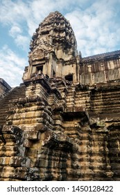 One of the ancient khmer temples of Angkor Wat complex in Cambodia