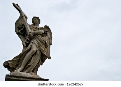 one of the angels of the Ponte del Angeli in Rome