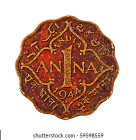 One Anna Indian Coin (1944)